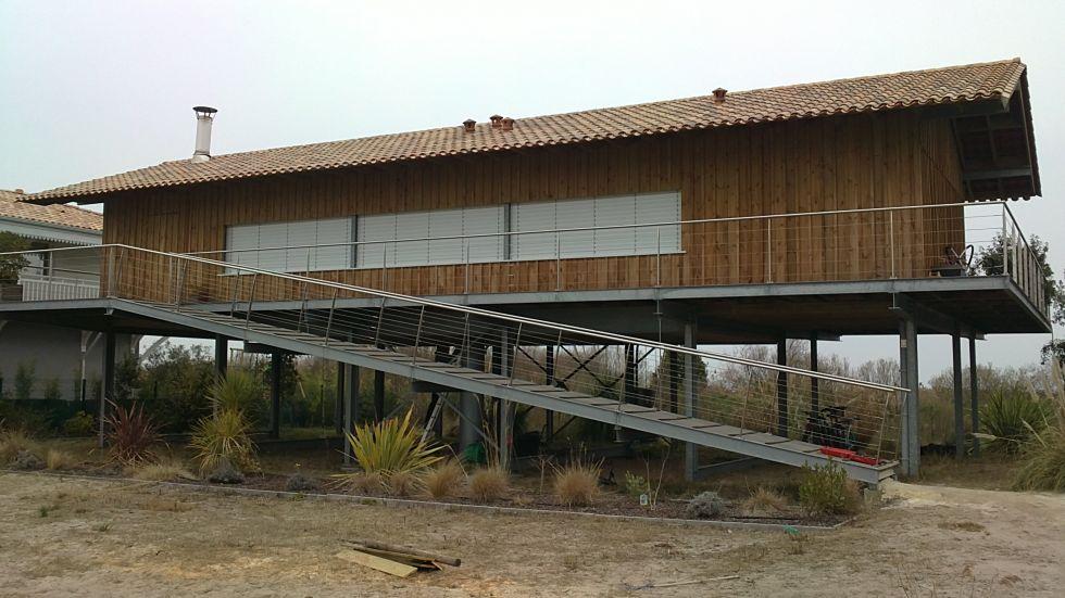 Construction maison ossature bois bassin d 39 arcachon - Maison en bois arcachon ...