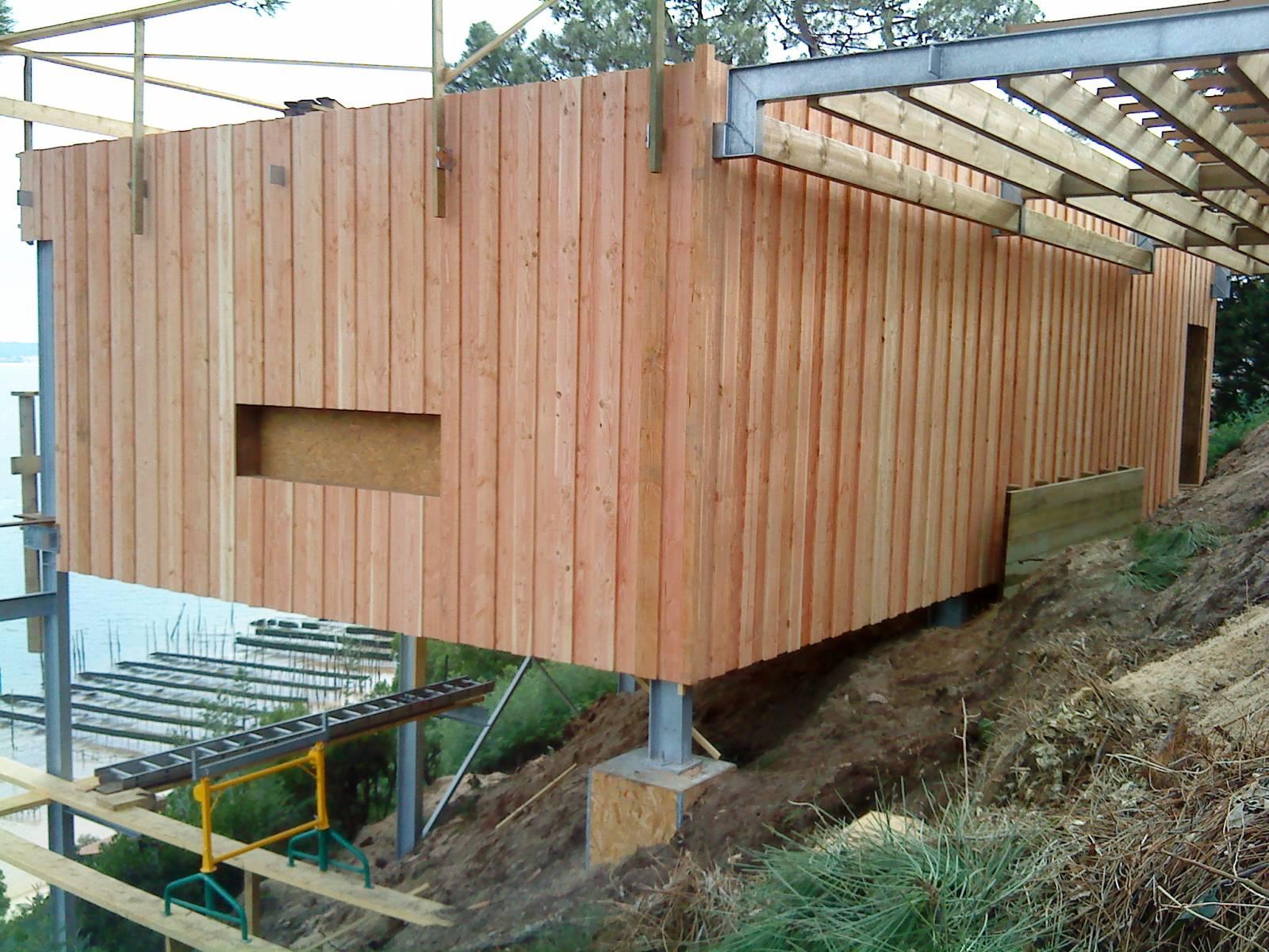 Ossature Métallique Pour Terrasse Bois maison en bois sur pilotis au cap ferret sur structure