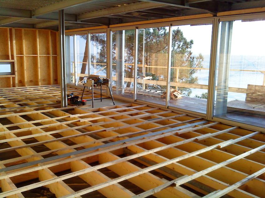 structure m tallique et ossature bois cap ferret cbl. Black Bedroom Furniture Sets. Home Design Ideas