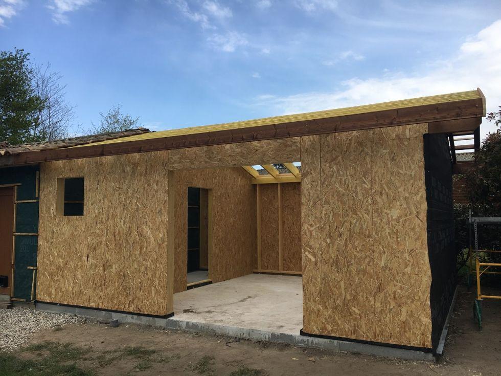 R alisation d 39 une extension de garage dans la commune de for Garage des communes acheres